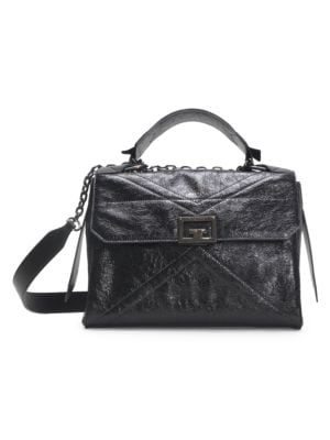 Givenchy Medium Id Leather Top Handle Bag In Black