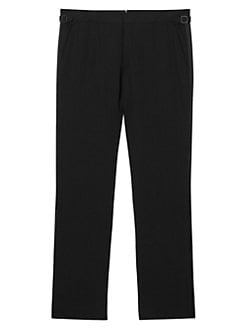 Burberry Classic Fit Silk-Trim Wool Tuxedo Trousers