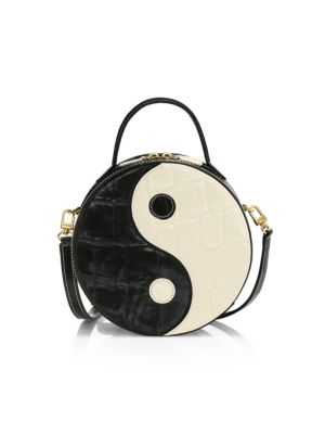 Zip Tote Bag Black And White Yin Yang Womens Handbags Shoulder Bags Satchel Purse