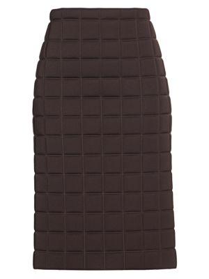 Bottega Veneta Skirts Quilted Technical Pencil Skirt