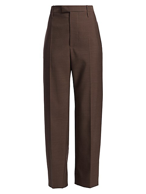 High-Waist Wide-Leg Trousers