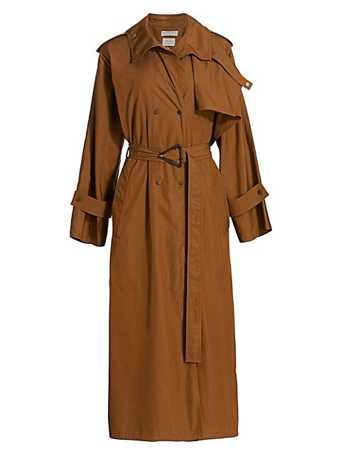Compact Cotton Belted Trench