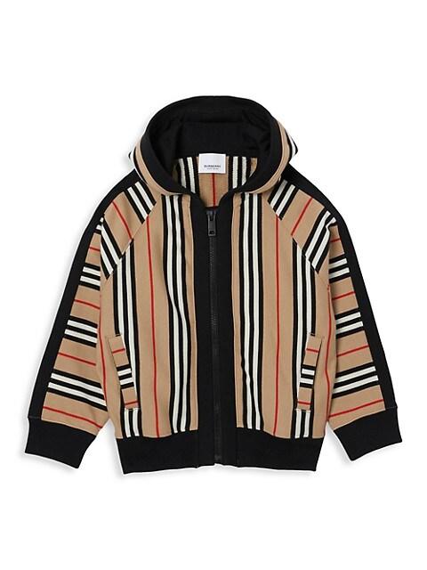 Little Girl's & Girl's Aurelie Icon Stripe Zip-Front Hoodie
