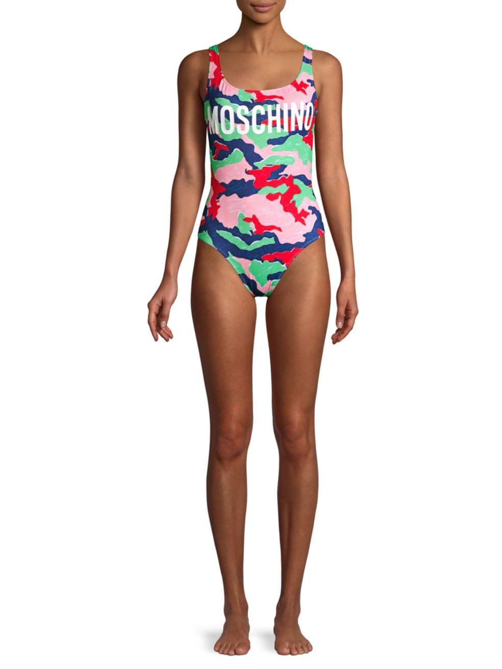 Moschino Camo One-Piece Swimsuit | SaksFifthAvenue