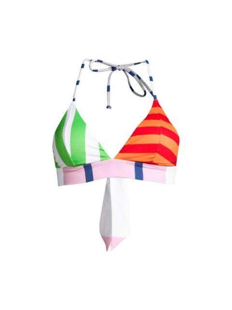 Moschino Striped Tie Bikini Top | SaksFifthAvenue