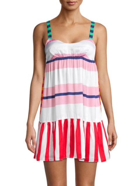 Moschino Multi-Striped Beach Dress | SaksFifthAvenue