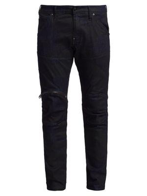 Zip Knee 3D Skinny Jeans