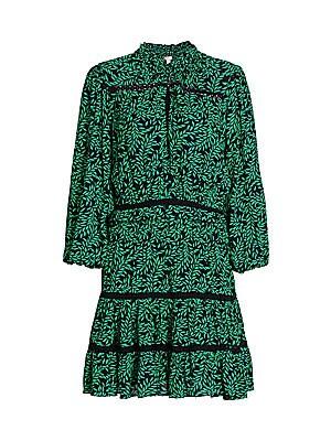 Joie - Salama Printed Puff-Sleeve Dress