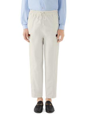 Gucci Pants Cotton Canvas Gucci Label Pants