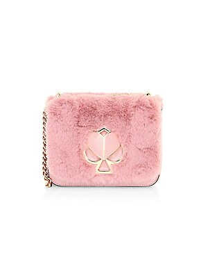Small Nicola Twistlock Faux Fur Shoulder Bag by Kate Spade New York