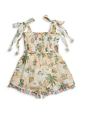 Little Girl's & Girl's Kirra Shirred Playsuit by Zimmermann Kids