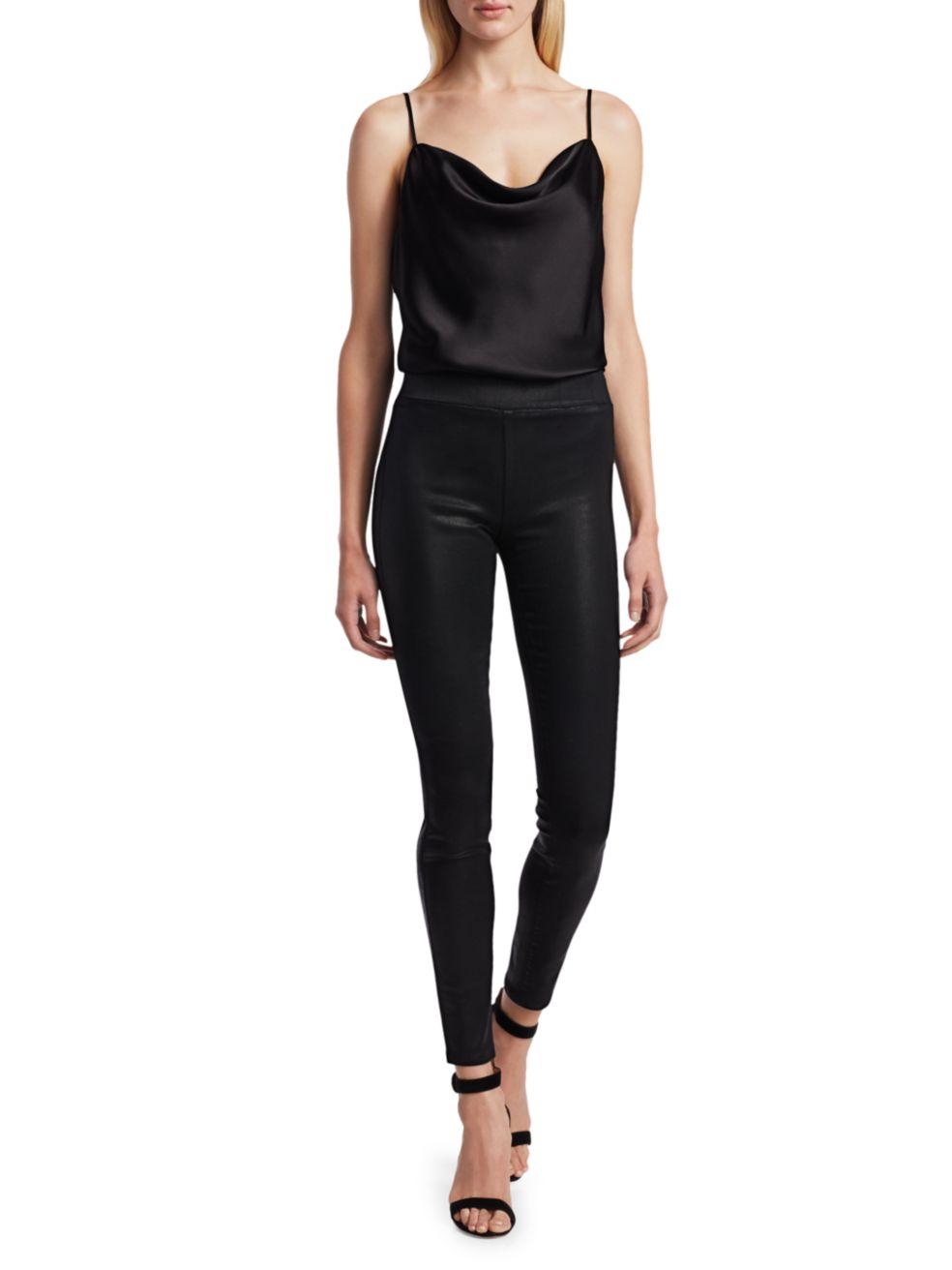 L'Agence Rochelle High Rise Coated Skinny Leggings | SaksFifthAvenue