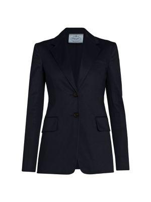 Prada Jackets Stretch-Cotton Jacket