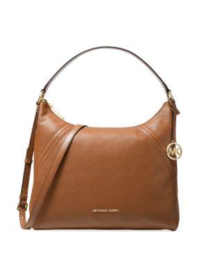 Large Aria Leather Hobo Bag