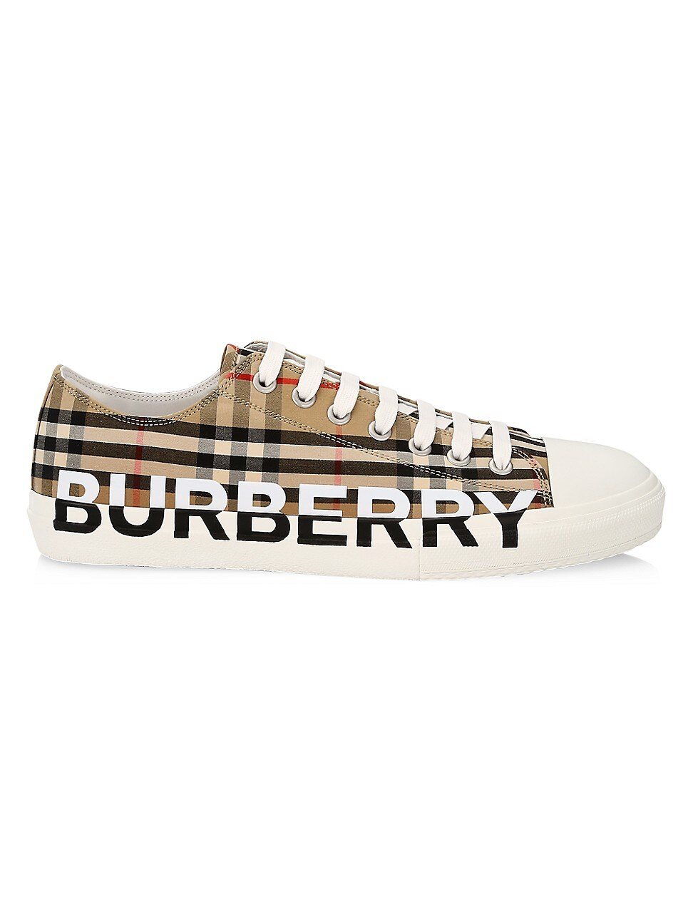 Burberry MEN'S LARKHALL VINTAGE CHECK LOGO LOW-TOP SNEAKERS
