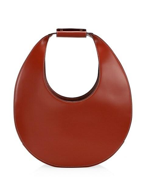 Large Moon Leather Hobo Bag