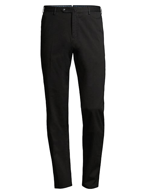 Slim-Fit Flat Front Trousers