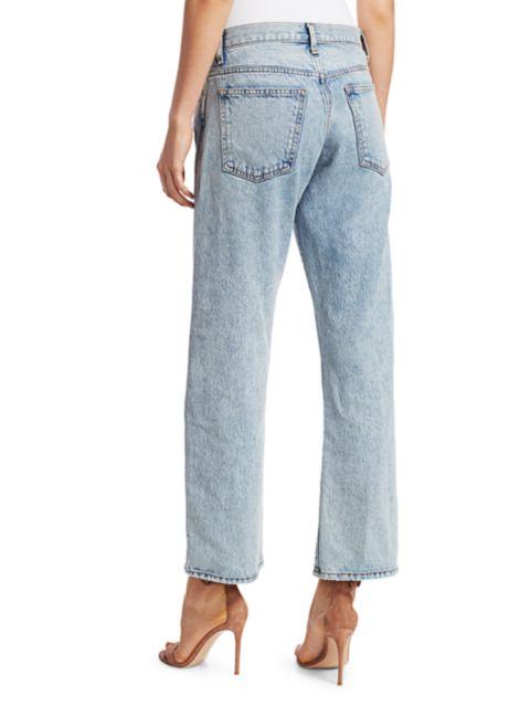 Khaite Kerrie Mid-Rise Cropped Jeans | SaksFifthAvenue