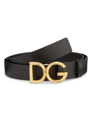 DG Classic Design Black Color Leather Belt Adjustable Size