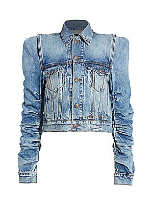 puff-sleeve-denim-jacket by r13