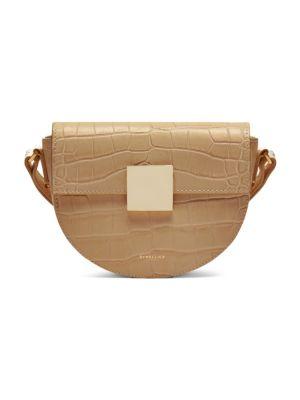 Croc Embossed Leather Crossbody Bag