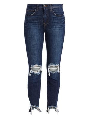 L'agence Jeans High Line Distressed Skinny Jeans