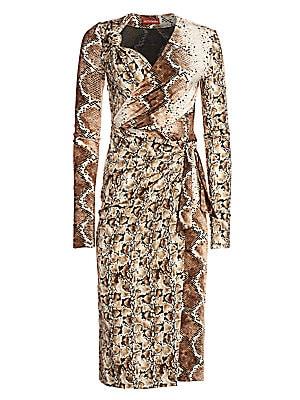 Dinah Snakeskin Print Midi Dress by Altuzarra