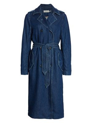 Rag & Bone Coats Tailored Denim Trench Coat