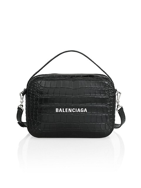 Everyday Croc-Embossed Leather Camera Bag