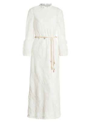Freja Lace Pintuck Midi Dress