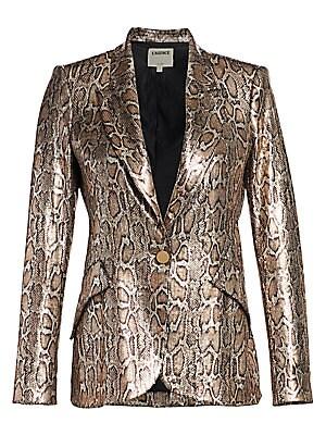 Chamberlain Snake Print Sequin Blazer by L'agence