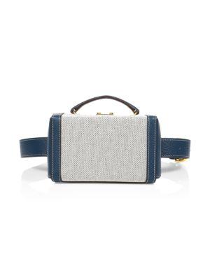 Mark Cross Grace Leather Box Belt Bag