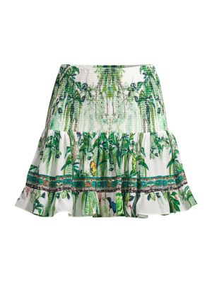Camilla Daintree Darling Tropical-Print Skirt