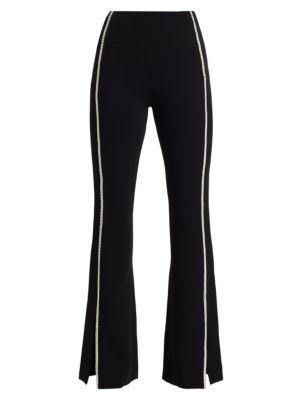 Cinq À Sept Yumi Rhinstone Stripe Tuxedo Pants
