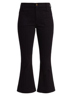 Frame Pants Bardot Crop Flare Pants