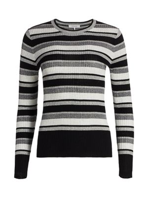 Frame Knits Panel Stripe Knit Top