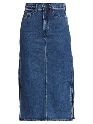 3x1 Skirts Cami Midi Denim Skirt