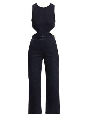 3x1 Suits Crossbody Cutout Jumpsuit