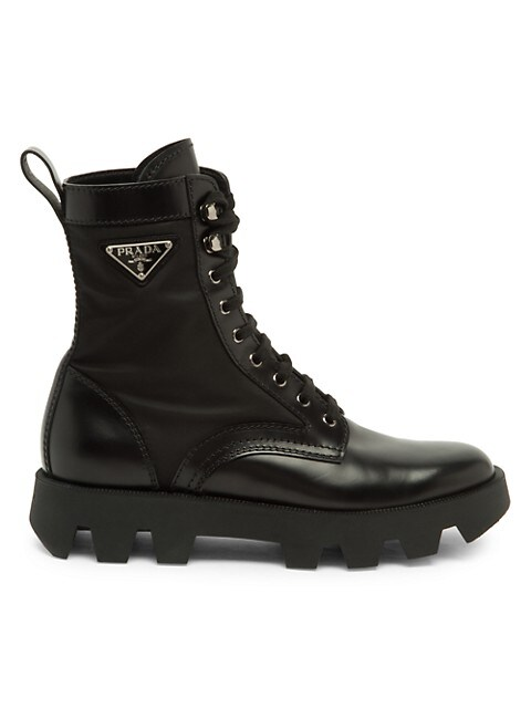 Brushed Nylon Combat Boots