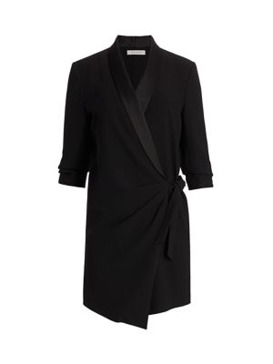 Frame Dresses Tuxedo Wrap Dress