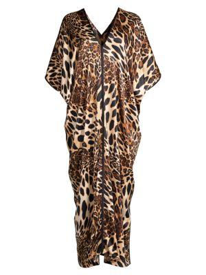 Natori Women's Luxe Leopard Print Caftan In Cheetah