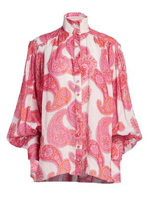 Zimmermann Tops Peggy Billowy Blouse