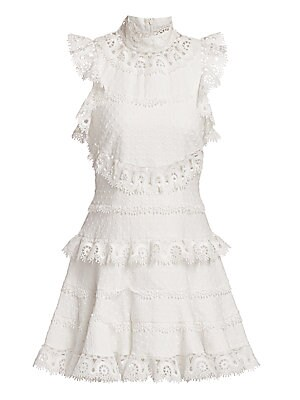 Peggy Embroidered Mini Dress by Zimmermann