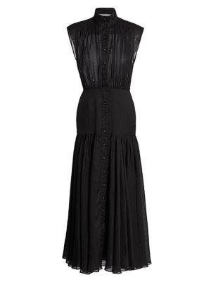 Zimmermann Dresses Peggy Sleeveless Midi Shirtdress