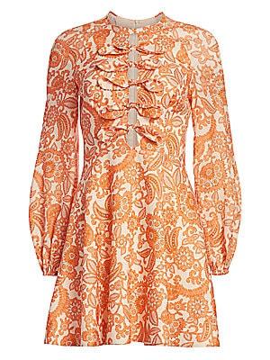 Peggy Scalloped Mini Dress by Zimmermann