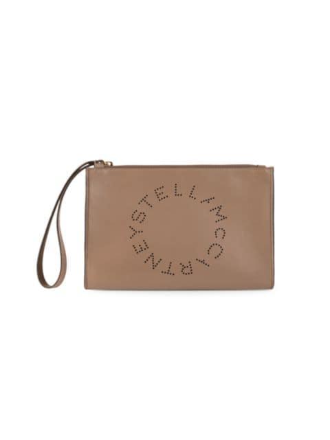 Stella McCartney Small Stella Logo Wristlet   SaksFifthAvenue