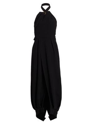 Proenza Schouler Dresses Wool Halterneck Wrap Dress
