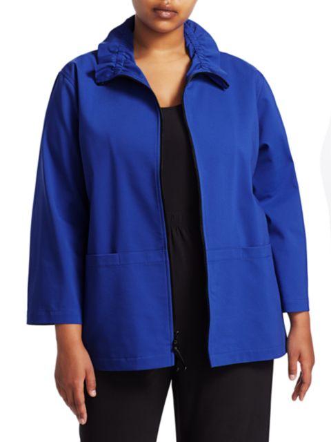 Caroline Rose, Plus Size Summer Stretch Zip Jacket   SaksFifthAvenue