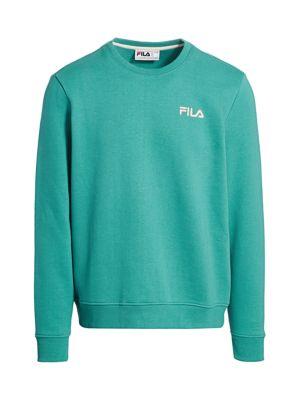 Fila Men's Brenner Sweatshirt In Green Blue Slate