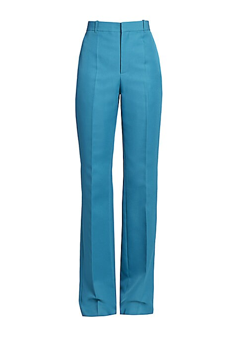 Understated yet sophisticated flat front trousers with a flattering high-waist. Button waist closure Zip fly Side seam pockets Back welt pockets Polyester Dry clean Made in Italy SIZE & FIT Rise, about 11\\\